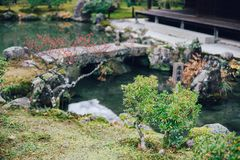 Ginkakuji Temple of the Silver Pavilion in Kyoto, Japan Stock Photography