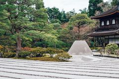 Ginkakuji Temple of the Silver Pavilion in Kyoto, Japan Royalty Free Stock Photos