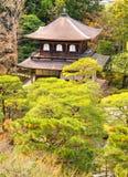 Ginkakuji (Zilveren Paviljoen), Kyoto, Japan Stock Afbeelding