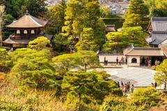 Ginkakuji (Zilveren Paviljoen), Kyoto, Japan Stock Foto