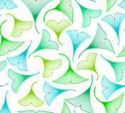Ginkgo biloba leaves seamless pattern Royalty Free Stock Images