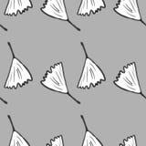 Ginkgo biloba pattern seamless.  Silhouette of ginko leaves Stock Photos