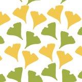 Ginkgo biloba pattern. Silhouette of ginkgo leaves Royalty Free Illustration