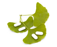 Ginkgo Biloba tree spirit and the medicine. Royalty Free Stock Images
