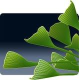 Ginkgo-Blätter am Abend Lizenzfreie Stockbilder