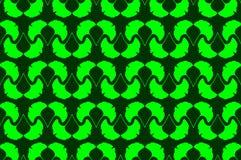 Ginkgo leaf - vector background. Ginkgo leaf - vector green pattern Stock Image