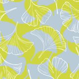 Ginkgo leaves. Vector seamless pattern Royalty Free Stock Image