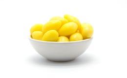 Ginkgo nut on white background. Fresh ginkgo nut on white background, isolated Stock Photography