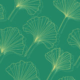 Ginkgo seamless pattern Royalty Free Stock Photography