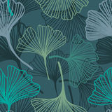 Ginkgo seamless pattern in soft colors. Stock Photo
