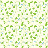 Ginkgo seamless pattern Stock Photo