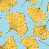 Ginkgo verlaat naadloos patroon Stock Afbeelding
