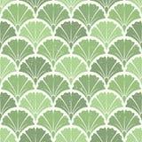 Ginkgoblätter Nahtloses Muster Stockbilder