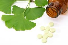 Ginkgopreventivpillerar Arkivbilder