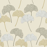 Ginko leaves floral imprint ornament Royalty Free Stock Image
