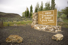Ginko Petrified Forest State Park Entrance Sign Washington State Stock Photos