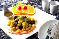 Ginko Seed. Fried with mushroom Royalty Free Stock Photo