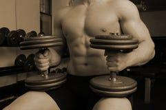 In ginnastica Fotografia Stock
