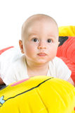 Ginnastica del bambino isolata Fotografia Stock