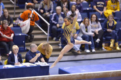 2015 ginnastica del NCAA - stato di WVU-Penn Fotografia Stock Libera da Diritti