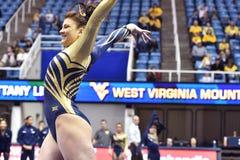 2015 ginnastica del NCAA - stato di WVU-Penn Fotografie Stock