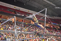 2015 ginnastica del NCAA - Virginia Occidentale Fotografie Stock
