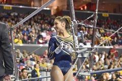 2015 ginnastica del NCAA - Virginia Occidentale Fotografia Stock Libera da Diritti