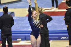 2015 ginnastica del NCAA - Virginia Occidentale Fotografia Stock