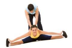 In ginnastica di sport Fotografia Stock Libera da Diritti