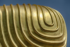 Ginocchio dorato del ` s di Buddha Fotografie Stock