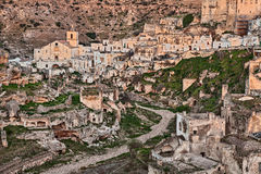 Ginosa, Taranto, Puglia, Italy: landscape of the old town Royalty Free Stock Photo