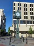Ginsbirg Clock in downtown Reno, Nevada Stock Image