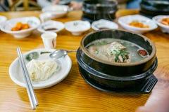 Ginseng chicken soup (Samgyetang) Stock Images