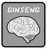 Ginseng emblem Royalty Free Stock Photography