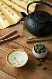 Ginseng kwiat z herbacianą polewką Zdjęcie Stock
