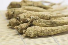 Ginseng roots. Close-up of ginseng roots Stock Photos