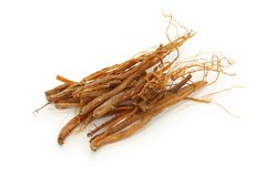 Ginseng roots, panax ginseng, traditional chinese royalty free stock image