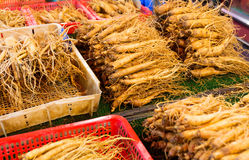 Ginseng for sell Royalty Free Stock Photos