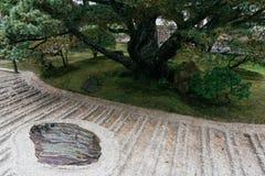 Ginshadan sand, zen garden, Ginkakuji temple, Kyoto, Japan. Royalty Free Stock Image