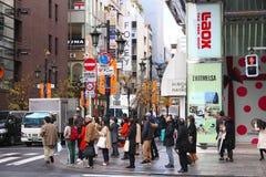 Ginza,东京 免版税库存照片