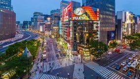 ginza Ιαπωνία Τόκιο απόθεμα βίντεο
