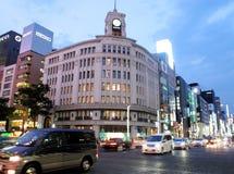 The Ginza area Stock Photos