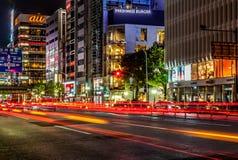 Ginza-Bezirk, Tokyo Stockfotos