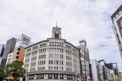 Ginza-Bezirk in Tokyo, Japan stockfotos