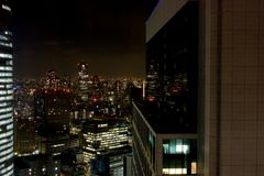 Ginza bij Nacht - Tokyo Stock Foto