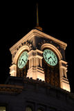 Ginza Clock Tower in Tokyo at night. The famous landmark of Ginza, in the Tokyo luxury district Stock Images