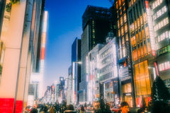 Ginza District in Tokyo Stock Photos