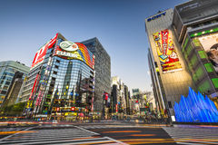 Ginza District Tokyo Royalty Free Stock Photo
