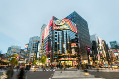 Ginza District, Tokyo - Japan Stock Photo