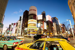 Ginza District, Tokyo - Japan Royalty Free Stock Photos